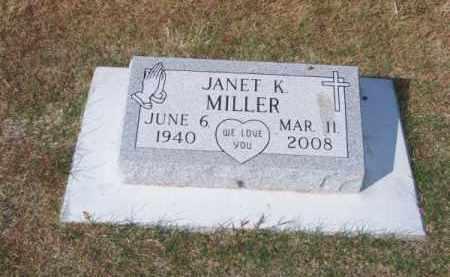MILLER, JANET K. - Brown County, Nebraska   JANET K. MILLER - Nebraska Gravestone Photos