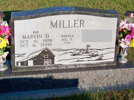 MILLER, MARVIN D. (BUD) - Brown County, Nebraska | MARVIN D. (BUD) MILLER - Nebraska Gravestone Photos