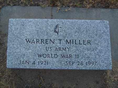 MILLER, WARREN T. - Brown County, Nebraska | WARREN T. MILLER - Nebraska Gravestone Photos