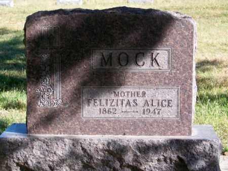 MOCK, FELIZITAS ALICE - Brown County, Nebraska | FELIZITAS ALICE MOCK - Nebraska Gravestone Photos