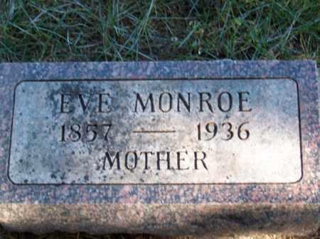 MONROE, EVE - Brown County, Nebraska   EVE MONROE - Nebraska Gravestone Photos