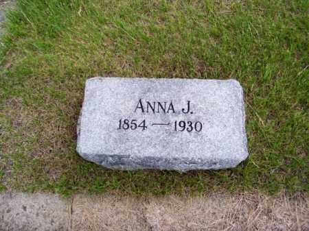 MOORE, ANNA J. - Brown County, Nebraska   ANNA J. MOORE - Nebraska Gravestone Photos
