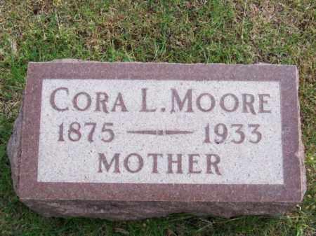 MOORE, CORA L. - Brown County, Nebraska   CORA L. MOORE - Nebraska Gravestone Photos