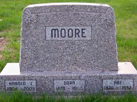 MOORE, ABE - Brown County, Nebraska | ABE MOORE - Nebraska Gravestone Photos