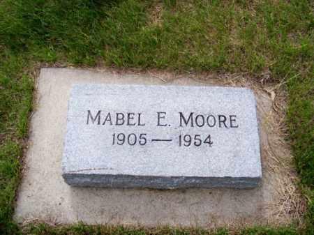 MOORE, MABEL E. - Brown County, Nebraska   MABEL E. MOORE - Nebraska Gravestone Photos