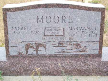MOORE, MARIANNE L. - Brown County, Nebraska | MARIANNE L. MOORE - Nebraska Gravestone Photos