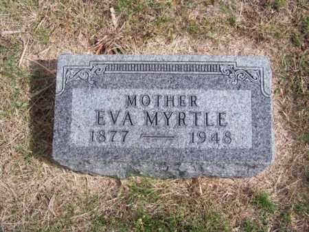MORROW, EVA MYRTLE - Brown County, Nebraska | EVA MYRTLE MORROW - Nebraska Gravestone Photos