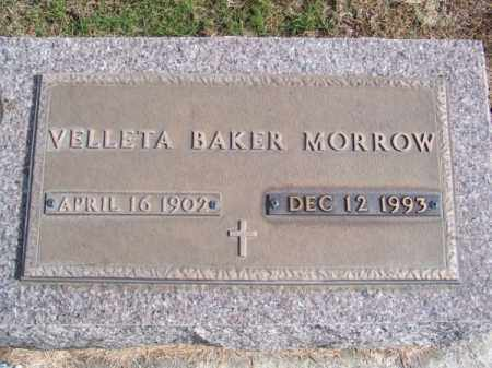 MORROW, VELLETA - Brown County, Nebraska | VELLETA MORROW - Nebraska Gravestone Photos