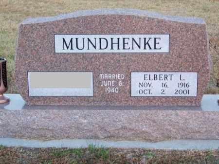 MUNDHENKE, ELBERT L. - Brown County, Nebraska | ELBERT L. MUNDHENKE - Nebraska Gravestone Photos