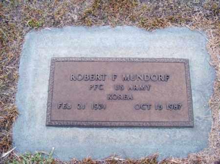 MUNDORF, ROBERT F. - Brown County, Nebraska | ROBERT F. MUNDORF - Nebraska Gravestone Photos