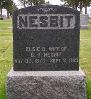 NESBIT, ELSIE B. - Brown County, Nebraska | ELSIE B. NESBIT - Nebraska Gravestone Photos