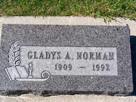 NORMAN, GLADYS A. - Brown County, Nebraska   GLADYS A. NORMAN - Nebraska Gravestone Photos