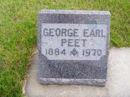 PEET, GEORGE EARL - Brown County, Nebraska | GEORGE EARL PEET - Nebraska Gravestone Photos