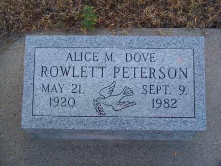 PETERSON, ALICE M. DOVE - Brown County, Nebraska | ALICE M. DOVE PETERSON - Nebraska Gravestone Photos