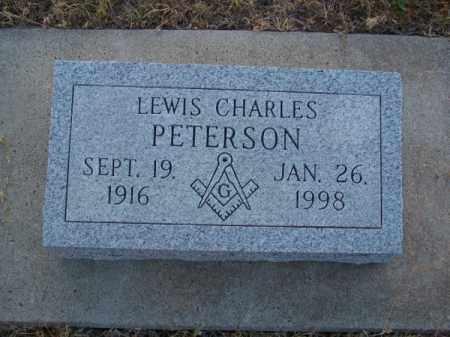 PETERSON, LEWIS CHARLES - Brown County, Nebraska | LEWIS CHARLES PETERSON - Nebraska Gravestone Photos