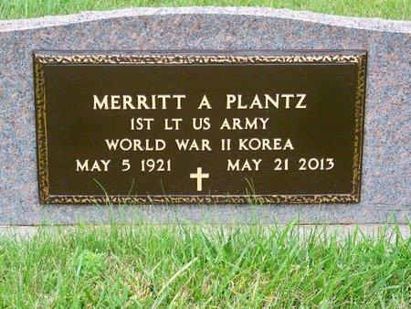 PLANTZ, MERRITT A. - Brown County, Nebraska   MERRITT A. PLANTZ - Nebraska Gravestone Photos
