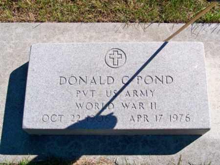 POND, DONALD C. - Brown County, Nebraska | DONALD C. POND - Nebraska Gravestone Photos