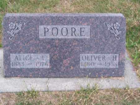 POORE, ALICE L. - Brown County, Nebraska | ALICE L. POORE - Nebraska Gravestone Photos