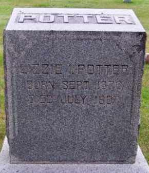 POTTER, LIZZIE A. - Brown County, Nebraska | LIZZIE A. POTTER - Nebraska Gravestone Photos