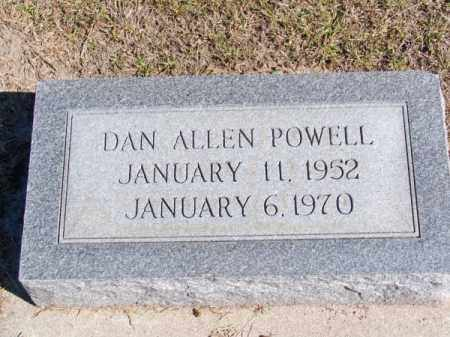 POWELL, DAN ALLEN - Brown County, Nebraska | DAN ALLEN POWELL - Nebraska Gravestone Photos