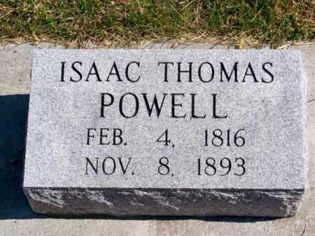 POWELL, ISAAC THOMAS - Brown County, Nebraska | ISAAC THOMAS POWELL - Nebraska Gravestone Photos