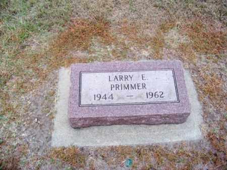 PRIMMER, LARRY E. - Brown County, Nebraska | LARRY E. PRIMMER - Nebraska Gravestone Photos