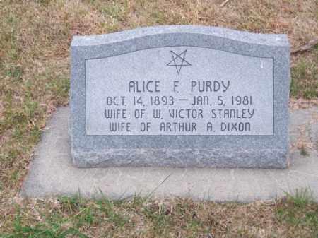 PURDY, ALICE F. - Brown County, Nebraska | ALICE F. PURDY - Nebraska Gravestone Photos