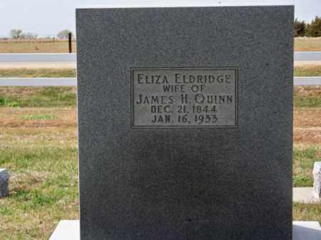 ELDRIDGE QUINN, ELIZA - Brown County, Nebraska | ELIZA ELDRIDGE QUINN - Nebraska Gravestone Photos