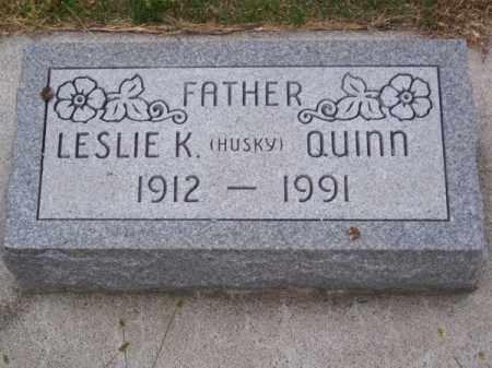 """QUINN, LESLIE K. """"HUSKY"""" - Brown County, Nebraska   LESLIE K. """"HUSKY"""" QUINN - Nebraska Gravestone Photos"""