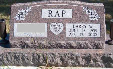 RAP, LARRY W. - Brown County, Nebraska | LARRY W. RAP - Nebraska Gravestone Photos
