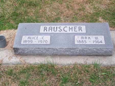 RAUSCHER, ALICE C. - Brown County, Nebraska | ALICE C. RAUSCHER - Nebraska Gravestone Photos