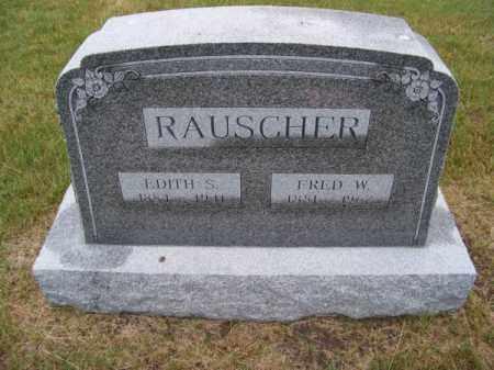 RAUSCHER, FRED W. - Brown County, Nebraska   FRED W. RAUSCHER - Nebraska Gravestone Photos