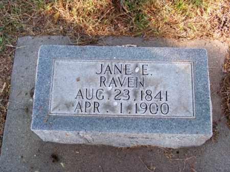RAVEN, JANE E. - Brown County, Nebraska | JANE E. RAVEN - Nebraska Gravestone Photos