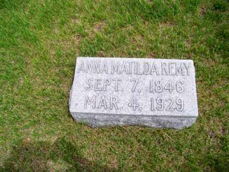 REMY, ANNA MATILDA - Brown County, Nebraska   ANNA MATILDA REMY - Nebraska Gravestone Photos