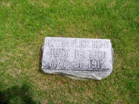 FLICK REMY, BERTHA - Brown County, Nebraska | BERTHA FLICK REMY - Nebraska Gravestone Photos