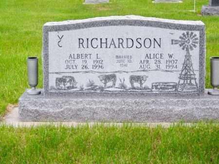 RICHARDSON, ALBERT L. - Brown County, Nebraska | ALBERT L. RICHARDSON - Nebraska Gravestone Photos