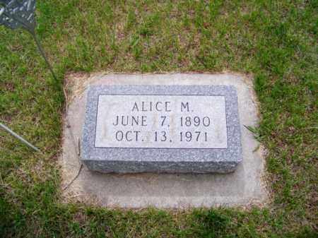 RICHARDSON, ALICE M. - Brown County, Nebraska | ALICE M. RICHARDSON - Nebraska Gravestone Photos