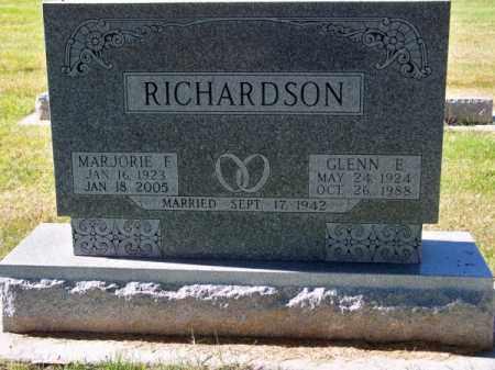 RICHARDSON, GLENN E. - Brown County, Nebraska | GLENN E. RICHARDSON - Nebraska Gravestone Photos