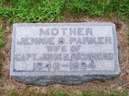 RICHMOND, JENNIE B. - Brown County, Nebraska   JENNIE B. RICHMOND - Nebraska Gravestone Photos