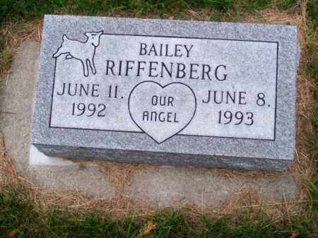 RIFFENBERG, BAILEY - Brown County, Nebraska | BAILEY RIFFENBERG - Nebraska Gravestone Photos