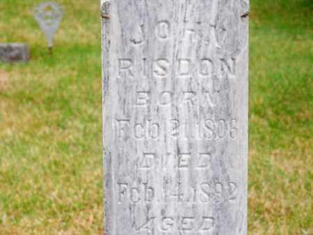 RISDON, JOHN - Brown County, Nebraska | JOHN RISDON - Nebraska Gravestone Photos