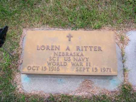 RITTER, LOREN A. - Brown County, Nebraska | LOREN A. RITTER - Nebraska Gravestone Photos