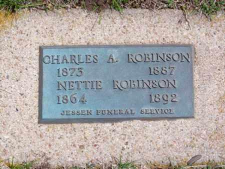 ROBINSON, CHARLES A. - Brown County, Nebraska | CHARLES A. ROBINSON - Nebraska Gravestone Photos
