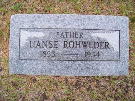 ROHWEDER, HANSE - Brown County, Nebraska | HANSE ROHWEDER - Nebraska Gravestone Photos