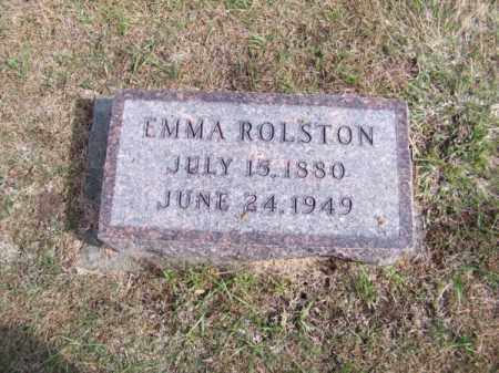 ROLSTON, EMMA - Brown County, Nebraska | EMMA ROLSTON - Nebraska Gravestone Photos