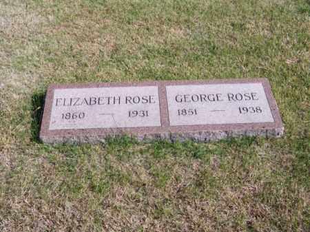ROSE, GEORGE - Brown County, Nebraska | GEORGE ROSE - Nebraska Gravestone Photos