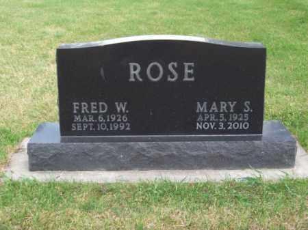 ROSE, FRED W. - Brown County, Nebraska | FRED W. ROSE - Nebraska Gravestone Photos