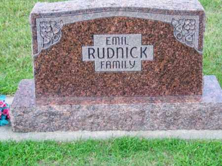 RUDNICK, EMIL FAMILY - Brown County, Nebraska | EMIL FAMILY RUDNICK - Nebraska Gravestone Photos