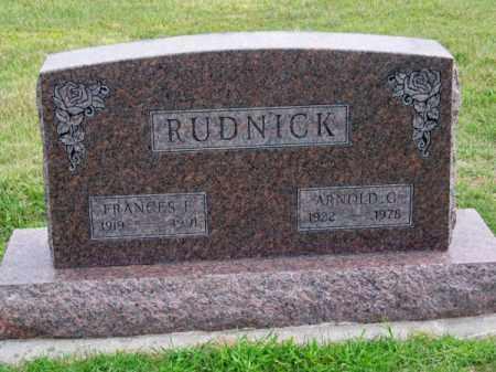 RUDNICK, ARNOLD G. - Brown County, Nebraska   ARNOLD G. RUDNICK - Nebraska Gravestone Photos