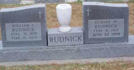 RUDNICK, WILLIAM F. - Brown County, Nebraska | WILLIAM F. RUDNICK - Nebraska Gravestone Photos